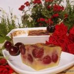 Clafoutis de cerezas y almendra