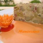 Flan de alcachofas y jamón