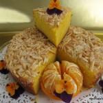 Bizcocho de mandarina y almendra