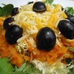 Ensalada de zanahorias y queso