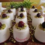 Menjar blanc con mermelada de cerezas