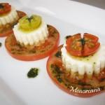 Mousse de parmesano con tomate
