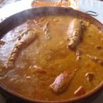 Caldereta de langosta / arroz caldoso