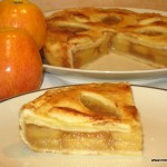 Tarta de manzana con mermelada