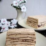 Biskuit de higos con láminas de chocolate