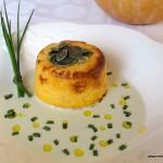 Flan de calabaza y gorgonzola