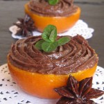 Mandarinas confitadas con trufa