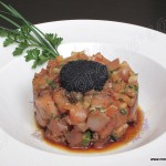 Tartar de bonito marinado con soja