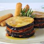 Berenjenas fritas con sobrasada y miel