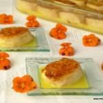 Torrijas al horno con salsa de naranjas