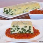 Granada de judías verdes con salsa de tomate
