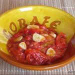 Ensalada de pimientos asados y tomate