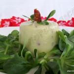 Pudin de calabacin y jamón