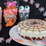 Tarta de remolacha y cena temática Halloween