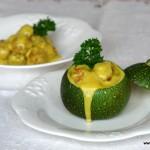 Albóndigas con salsa de calabacín al curry