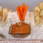 Crema de pimientos asados y nueces (muhammara)