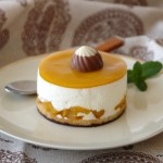 Mousse de yogurt con mango