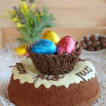 Mona de pascua (Angel food cake de chocolate)